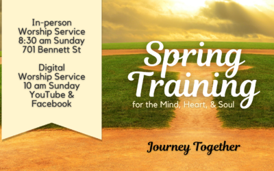 """May 2 Worship – Spring Training (Week 4): """"Journey Together"""""""